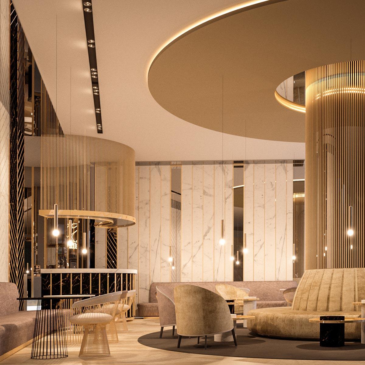 hotel intercontinental amenajare